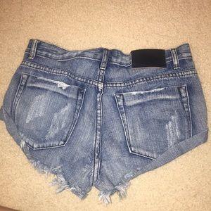 One Teaspoon Shorts - One Teaspoon Bandit Short in Cobain
